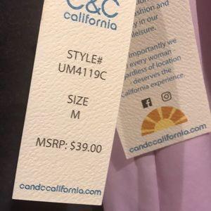 C&C California Tops - C&C California brand new gorgeous lavender top